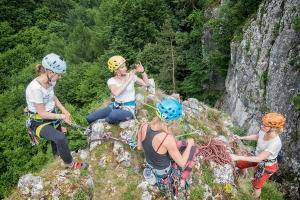 Kobiecy kurs wspinaczki skalnej na Jurze Południowej