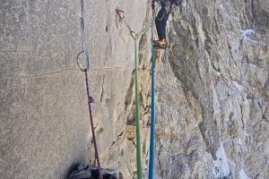 Wspinanie w headwallu zachodniej ściany