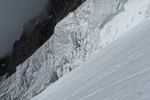 Zejście lodowcem Gul